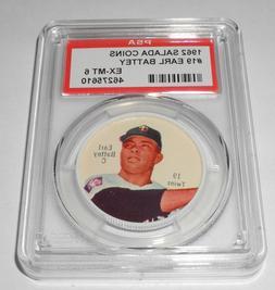 1962 Salada Baseball Coin Pin #19 Earl Battey Minnesota Twin