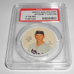 1962 Salada Baseball Coin Pin #43 Billy Martin Minnesota Twi