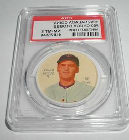 1962 Salada Baseball Coin Pin #90 Chuck Stobbs Minnesota Twi