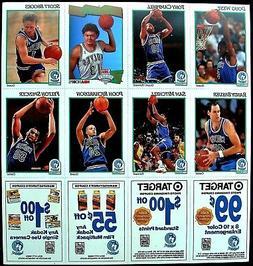 1991-92 MINNESOTA TIMBERWOLVES NBA HOOPS KODAK UNCUT CARD SH