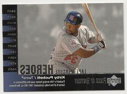 2002 UD Piece of History Tape Measure Heroes, Kirby Puckett,
