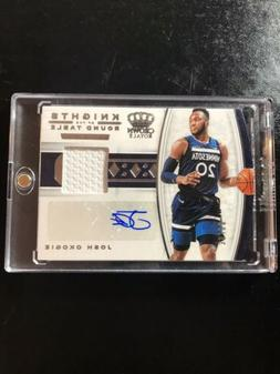 2019-20 Crown Royale Knights Of The Round Table Josh Okogie