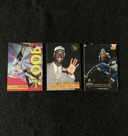 3 CARD LOTS ROOKIE YEAR CARDS UPPERDECK KEVIN GARNETT TIMBER