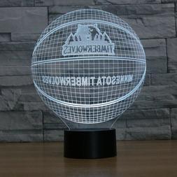 3D LED Night Light Basketball Lamp MINNESOTA TIMBERWOLVES US