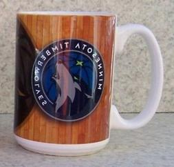 Coffee Mug Sports NBA Minnesota Timberwolves NEW 15 ounce cu