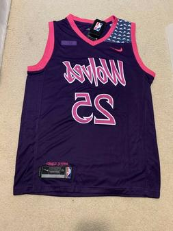 Derrick Rose #25 Minnesota Timberwolves Purple City Edition