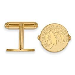 Gold Plated Sterling Silver NBA LogoArt Minnesota Timberwolv