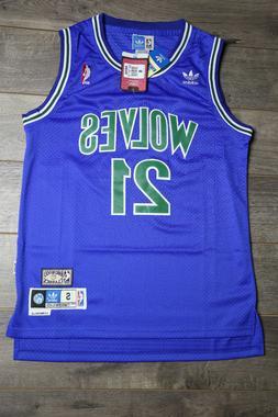 Kevin Garnet #21 Minnesota Timberwolves Jersey Green Blue Sw