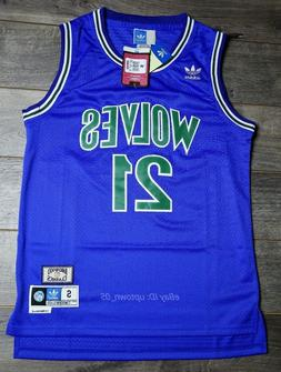 Kevin Garnett #21 Minnesota Timberwolves 1995-96 Throwback J