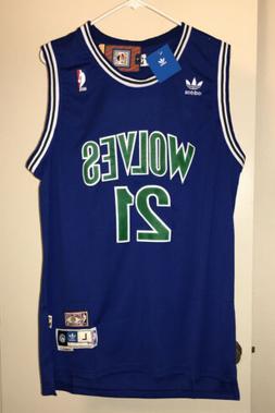 Kevin Garnett #21 NBA Minnesota Timberwolves Swingman Throwb