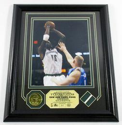 Kevin Garnett Framed Display Photo Game-Used Net Coin Highla