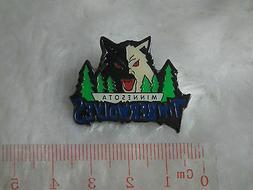 kiTki Minnesota Timberwolves badge pin brooch metallic baske