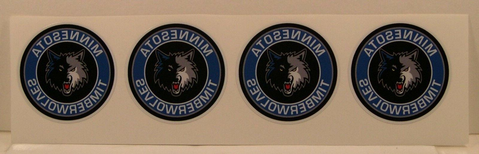 4 minnesota timberwolves 2 round diy stickers