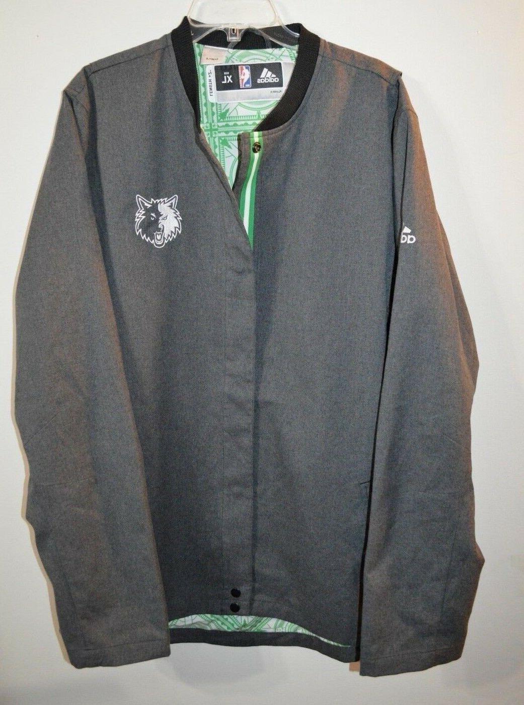 authentic sample nba minnesota timberwolves game jacket