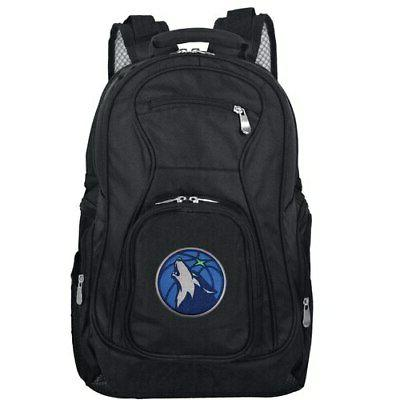 minnesota timberwolves 19 laptop travel backpack black