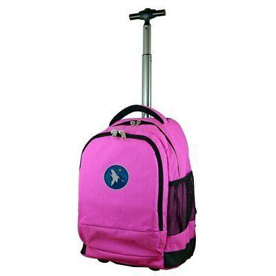 minnesota timberwolves 19 premium wheeled backpack pink