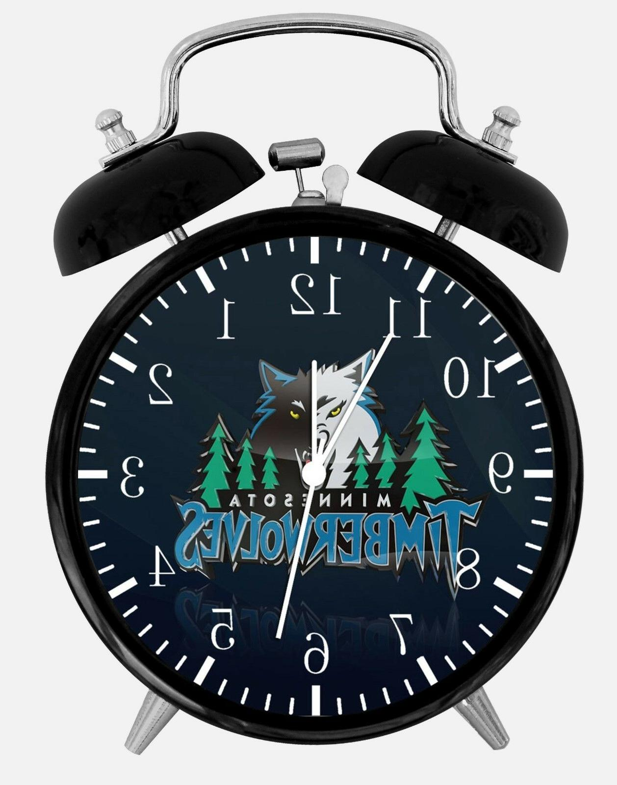 minnesota timberwolves alarm desk clock 3 75