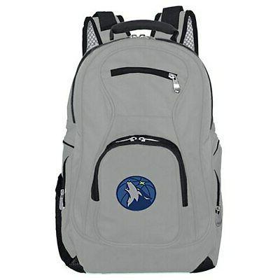 minnesota timberwolves backpack laptop gray