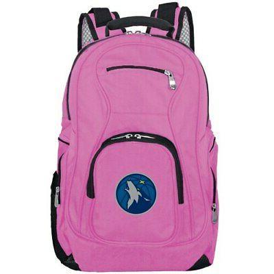minnesota timberwolves backpack laptop pink