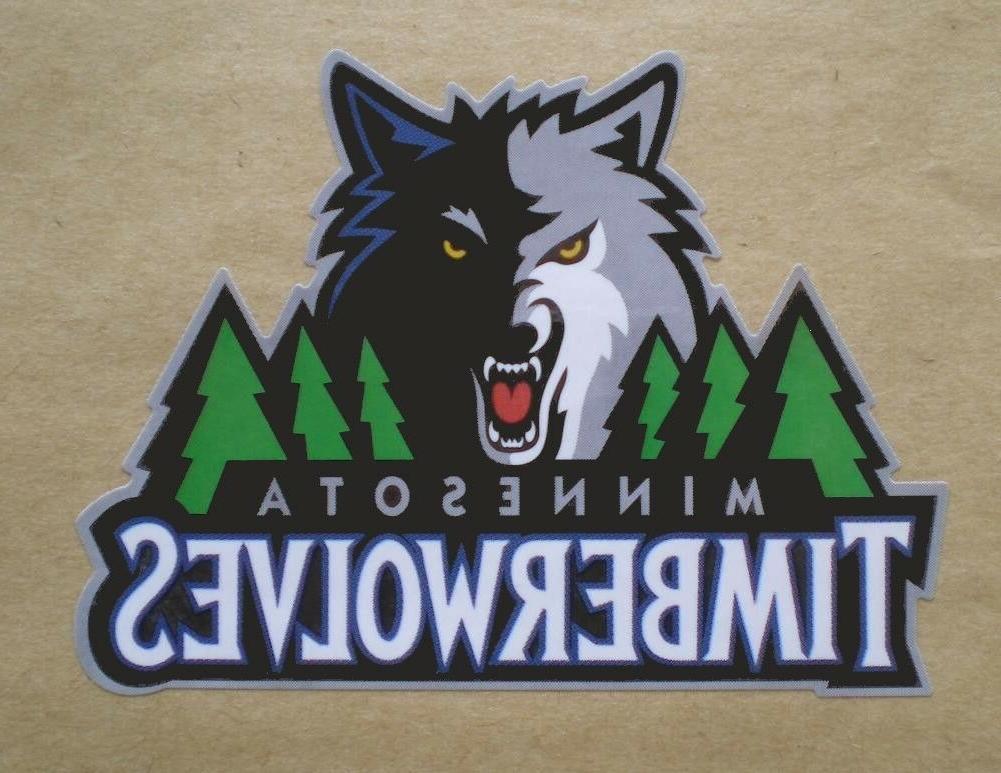 minnesota timberwolves basketball decal stickers team logo