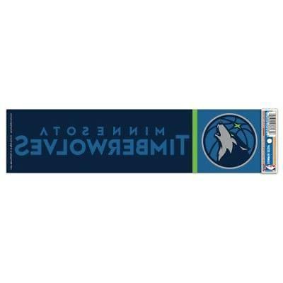 minnesota timberwolves bumper sticker new 3 x