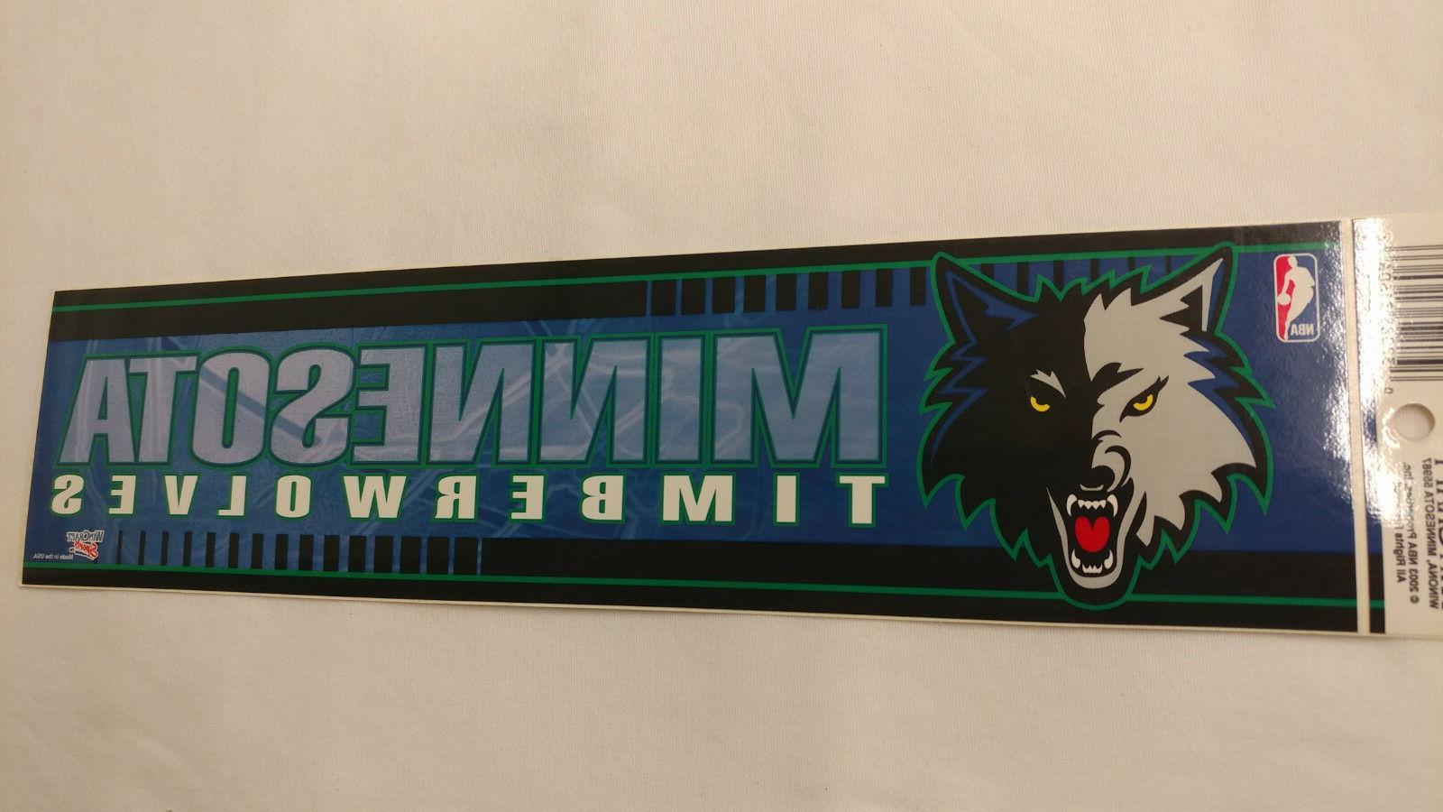 minnesota timberwolves bumper strip sticker
