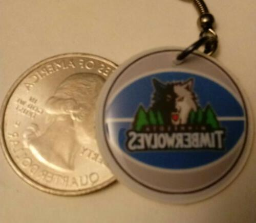minnesota timberwolves handmade earrings 1 pair you