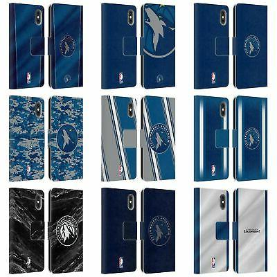 minnesota timberwolves leather book case for apple