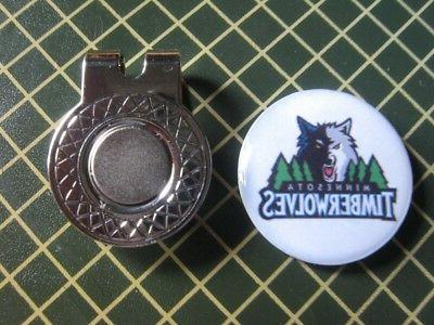minnesota timberwolves logo ball marker with magnetic