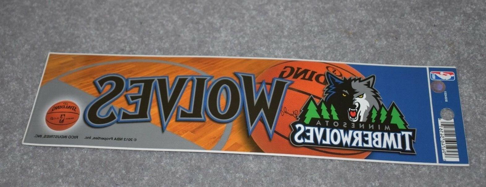 minnesota timberwolves nba basketball sports bumper sticker