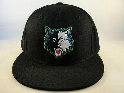 minnesota timberwolves nba fitted hat cap black