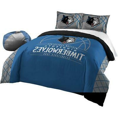 minnesota timberwolves reverse slam full queen comforter