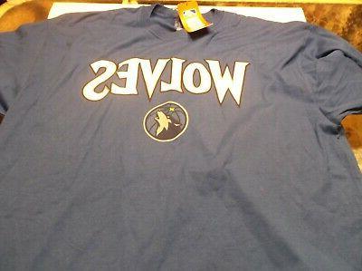 minnesota timberwolves shirt xl blue