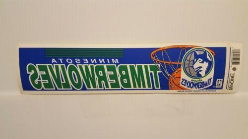 minnesota timberwolves vintage team bumper sticker 1990