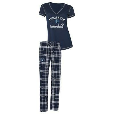 minnesota timberwolves women s pajama set duo