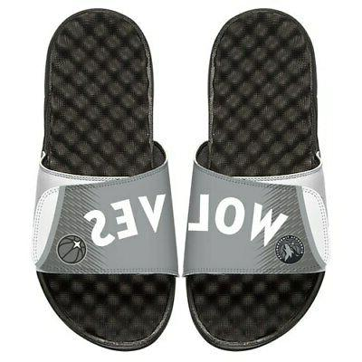 minnesota timberwolves youth city edition slide sandals
