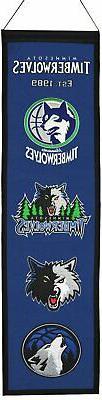 Minnesota Timberwolves Official Wool Heritage Banner by Winn