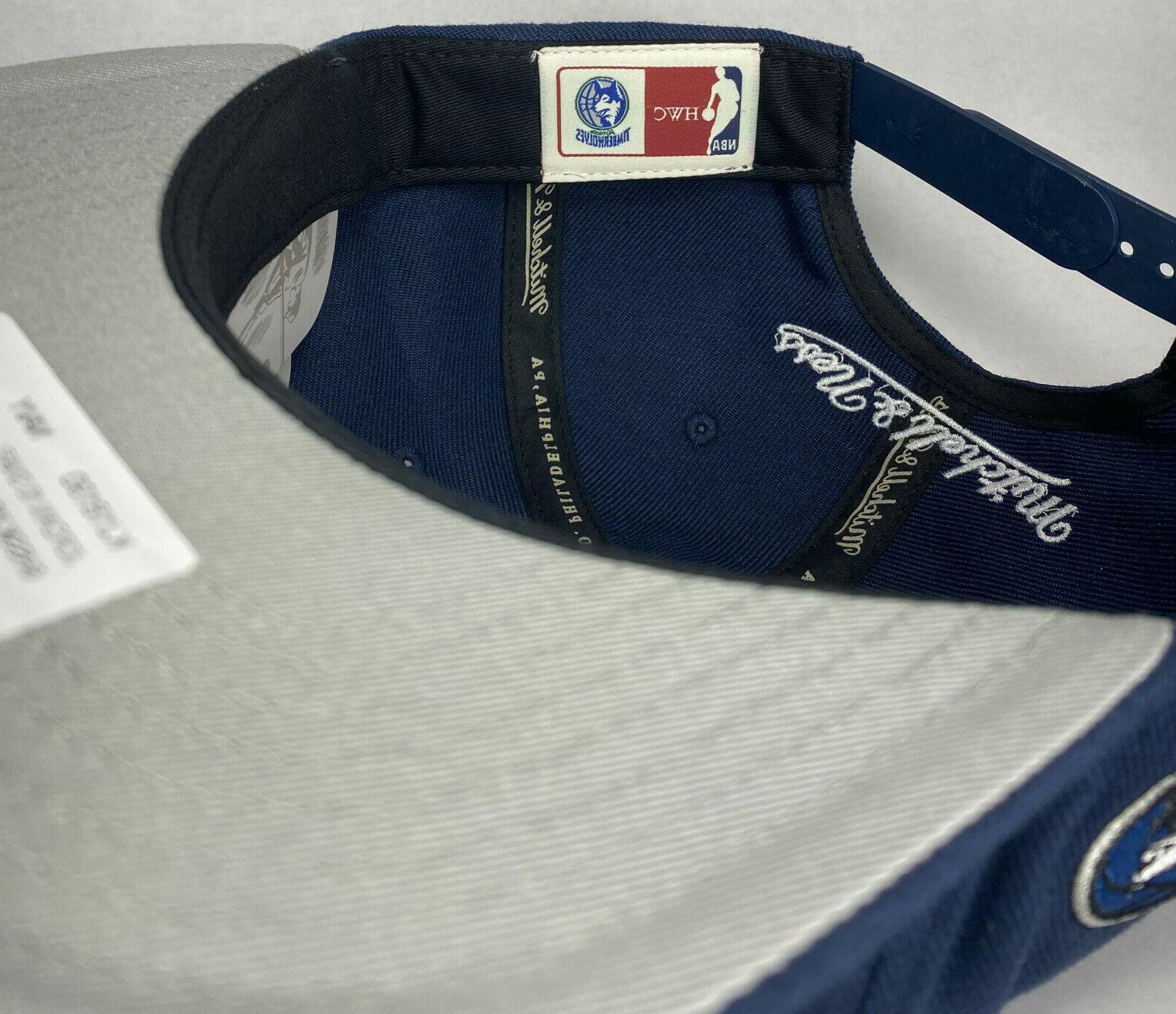 Mitchell and Ness NBA Minnesota Timberwolves HWC 10 Snapback Hat,