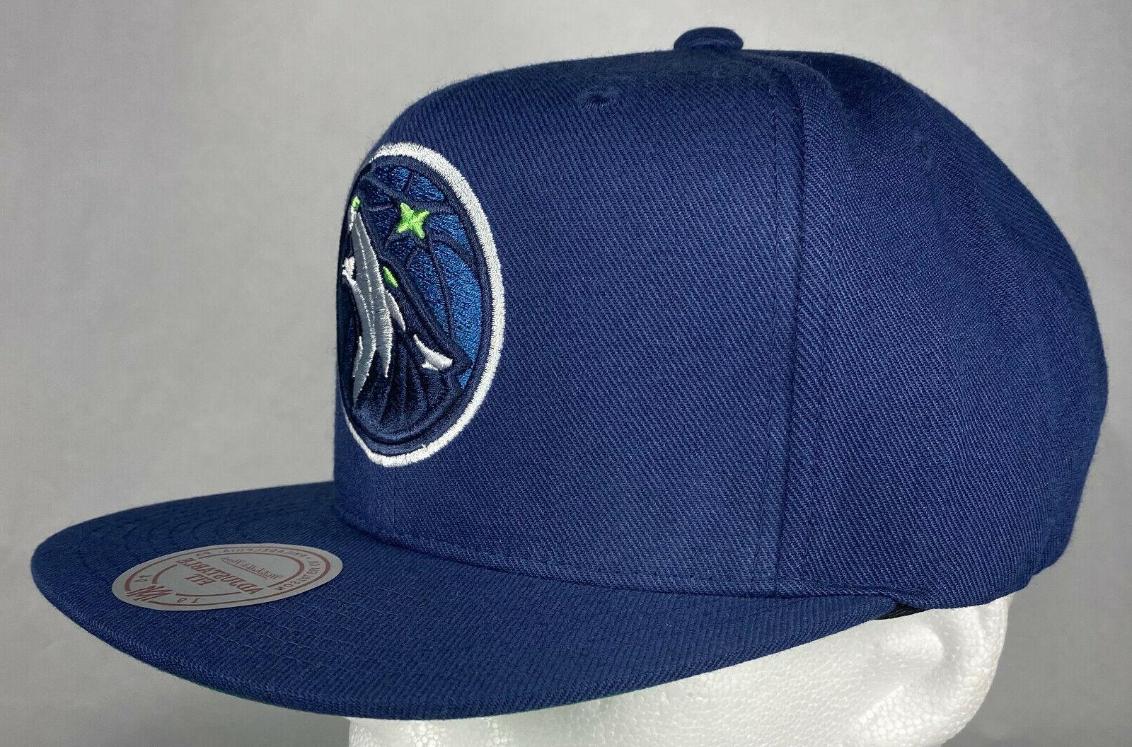 Mitchell and Minnesota Solid Snapback Hat, 100%