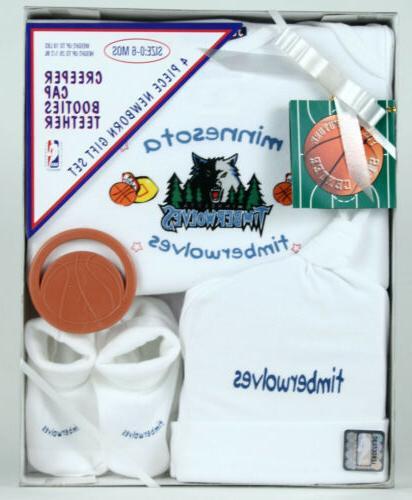 nba basketball minnesota timberwolves newborn baby boxed