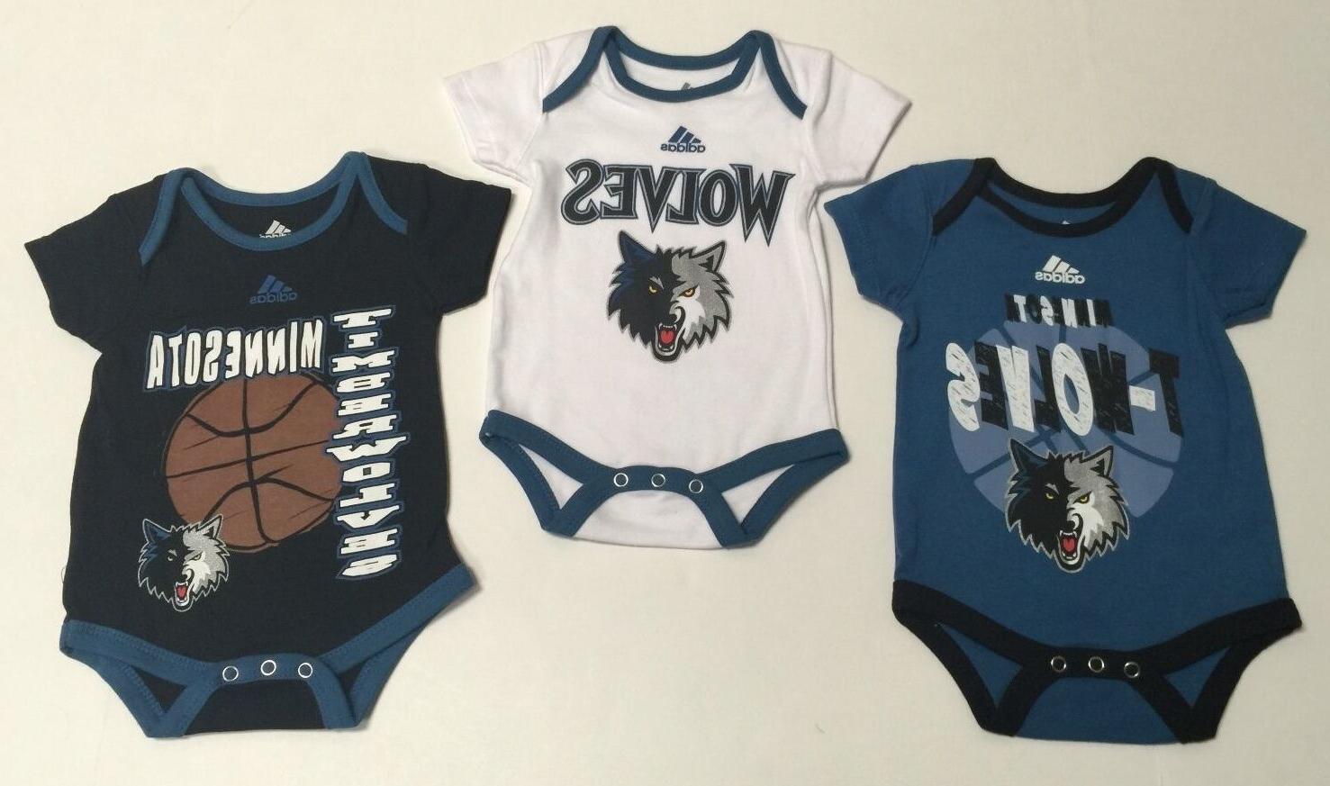 nba minnesota timberwolves genuine infant 3 piece