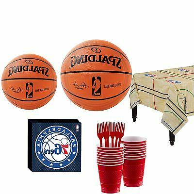 nba party kit 16 guests includes table