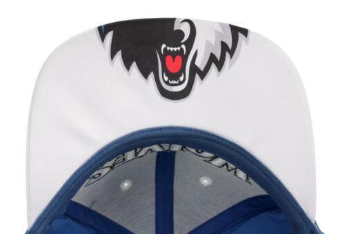 Adidas Minnesota Timberwolves Flat Brim Snapback