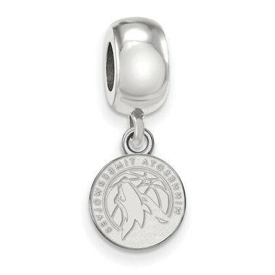 sterling silver nba minnesota timberwolves xs dangle