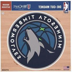 minnesota timberwolves 12 x 12 car magnet