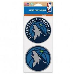 "Minnesota Timberwolves 2 Pack 4""x4"" Car Decals  Decal Auto E"