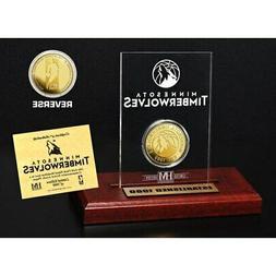 """Minnesota Timberwolves Highland Mint 3.5"""" x 5"""" Gold Coin Etc"""