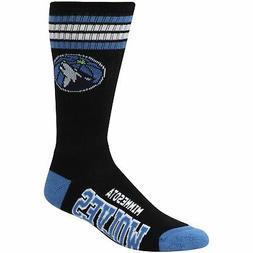Minnesota Timberwolves For Bare Feet 4-Stripe Deuce Crew Soc