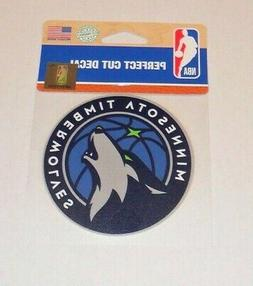 MINNESOTA TIMBERWOLVES 4 X 4 DIE-CUT DECAL OFFICIALLY LICENS
