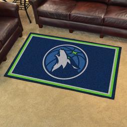 Minnesota Timberwolves 4' X 6' Decorative Ultra Plush Carpet
